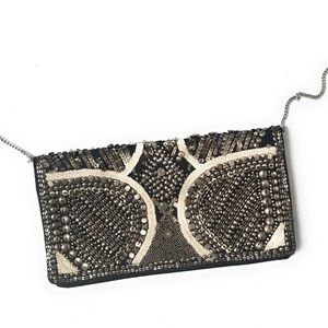 ECOTE Urban Outfitters Womens Beaded Envelope Bag